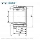 Frette de serrage d'assemblage KLD15035080