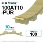 Courroie dentée ouverte ref 100AT10-PUR