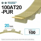 Courroie dentée ouverte ref 100AT20-PUR