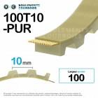Courroie dentée ouverte ref 100T10-PUR
