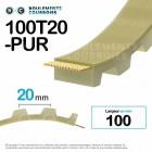 Courroie dentée ouverte ref 100T20-PUR