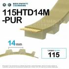 Courroie dentée ouverte ref 115HTD14M-PUR